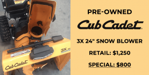 In-store Cub Cadet Special!